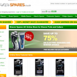 Web Page Review: Ecommerce Site – Shaver Spares