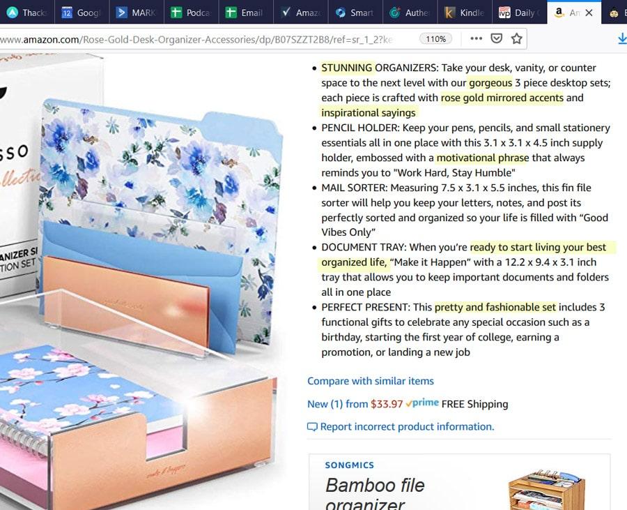 Amazon Product Listing Writing