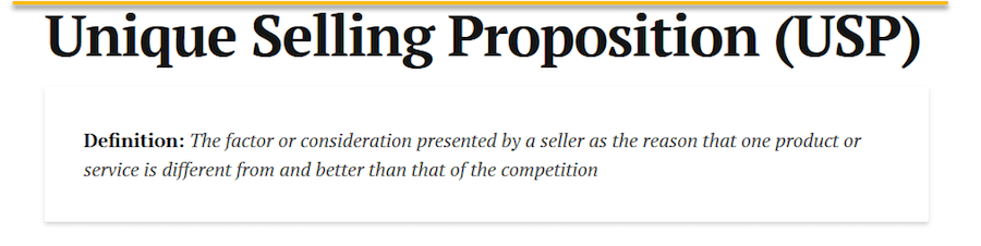 Unique Selling Proposition Defined