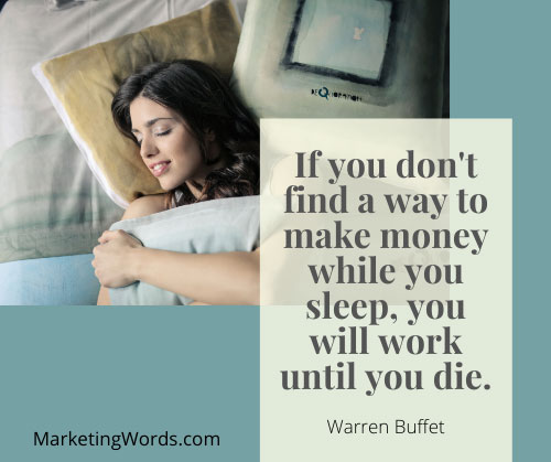 passive income warren buffet