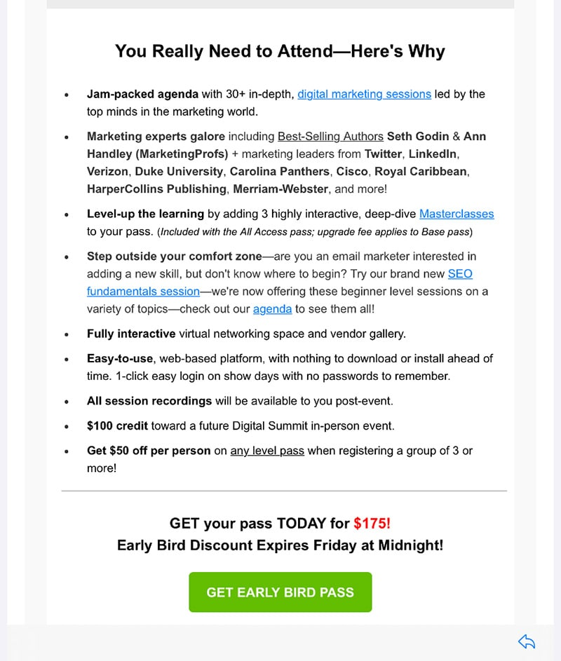 Scarcity Email