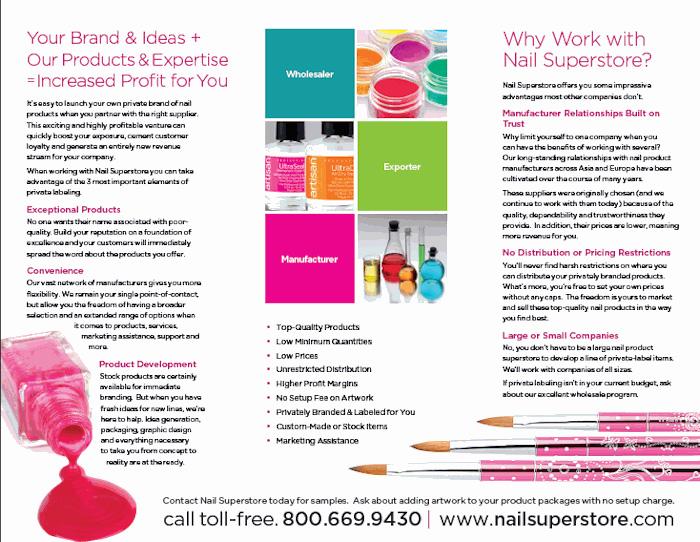 nail salon brochures